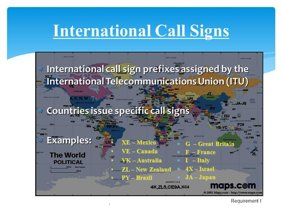 International Call Signs