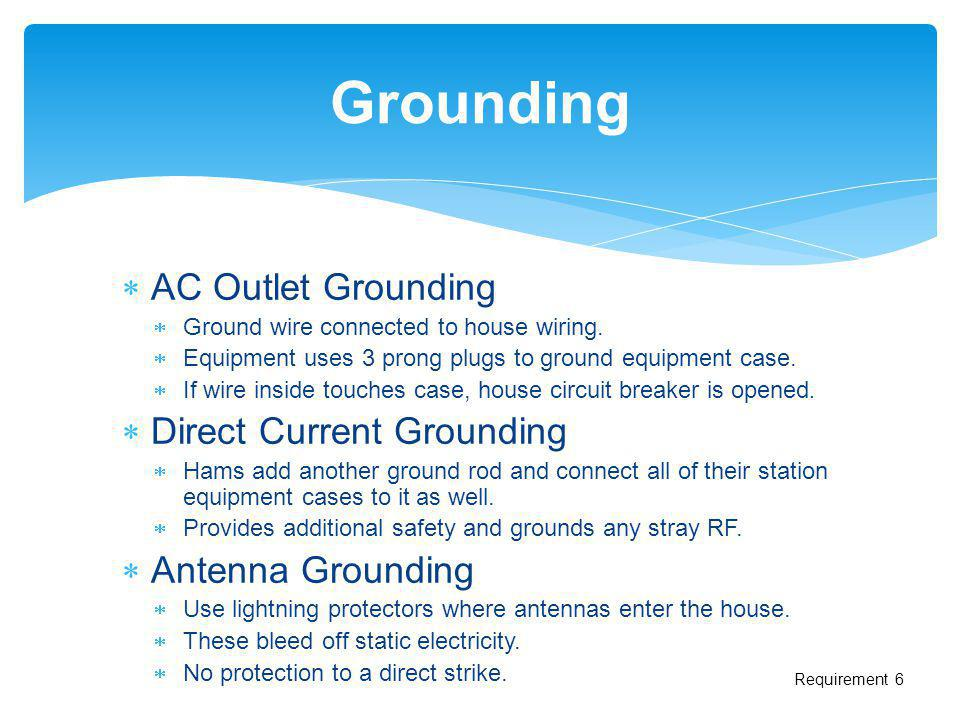 Grounding AC Outlet Grounding Direct Current Grounding