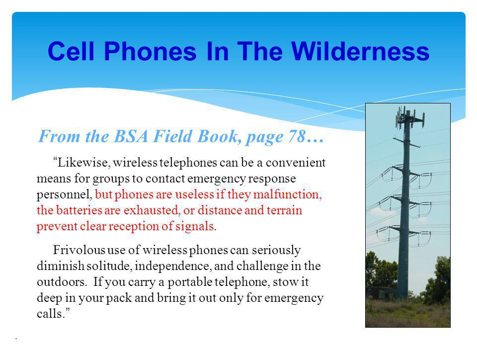 Cell Phones In The Wilderness