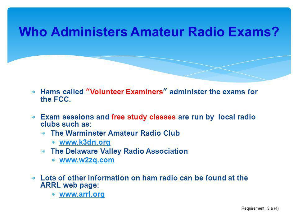 Who Administers Amateur Radio Exams