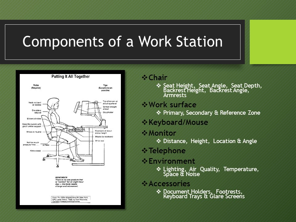 Components of a Work Station