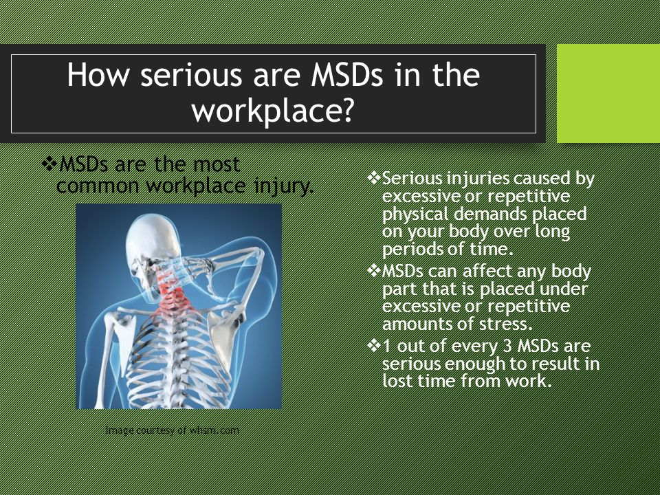 How serious are MSDs in the workplace