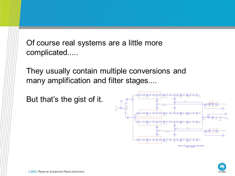 Of course real systems are a little more complicated.....