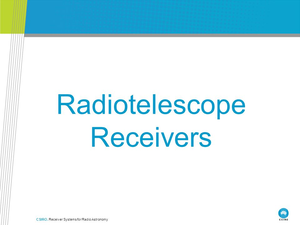 Radiotelescope Receivers