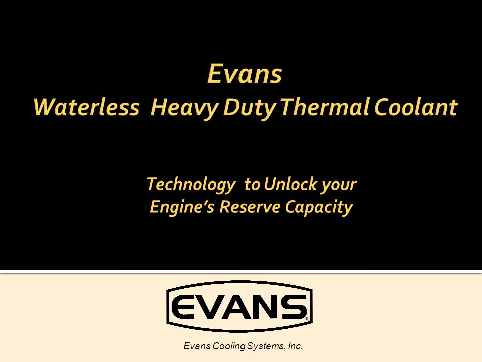 Evans Waterless Heavy Duty Thermal Coolant
