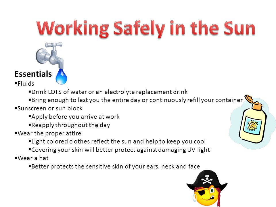 Working Safely in the Sun
