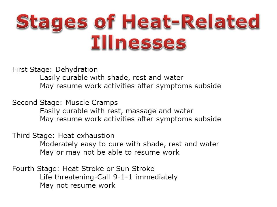 Stages of Heat-Related Illnesses