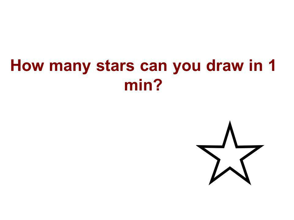 How many stars can you draw in 1 min