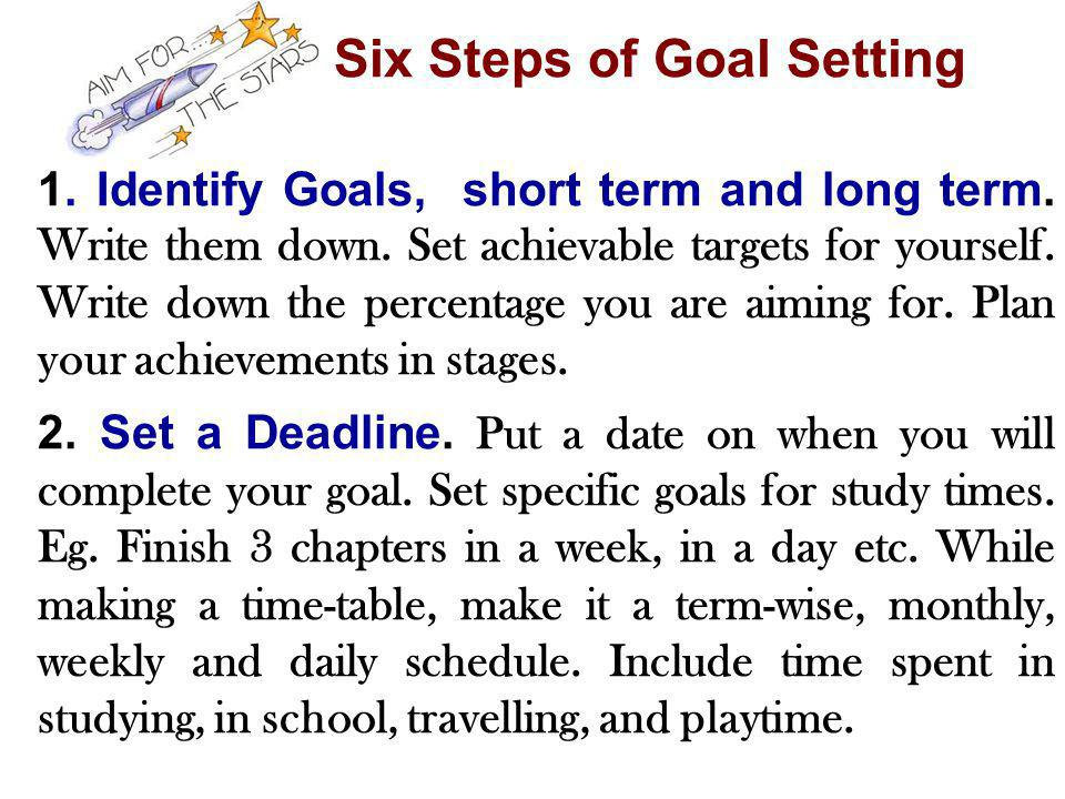 Six Steps of Goal Setting