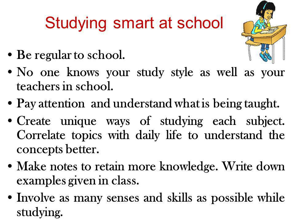 Studying smart at school