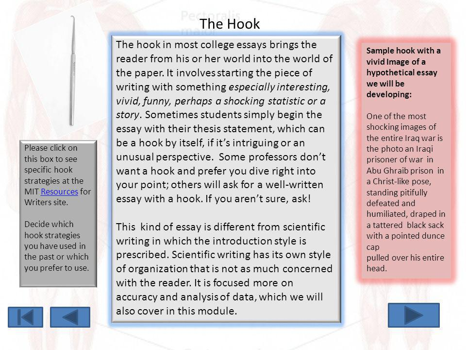 Hook for essay about war