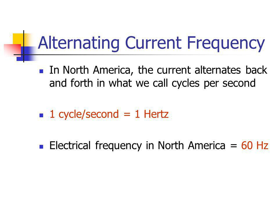 Alternating Current Frequency