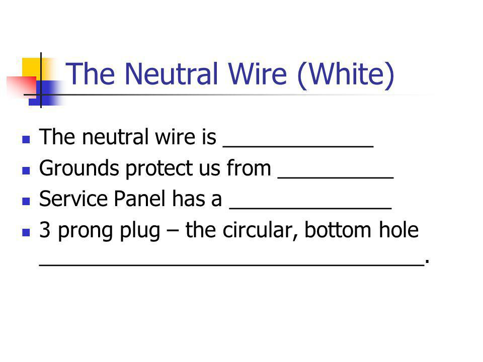 The Neutral Wire (White)