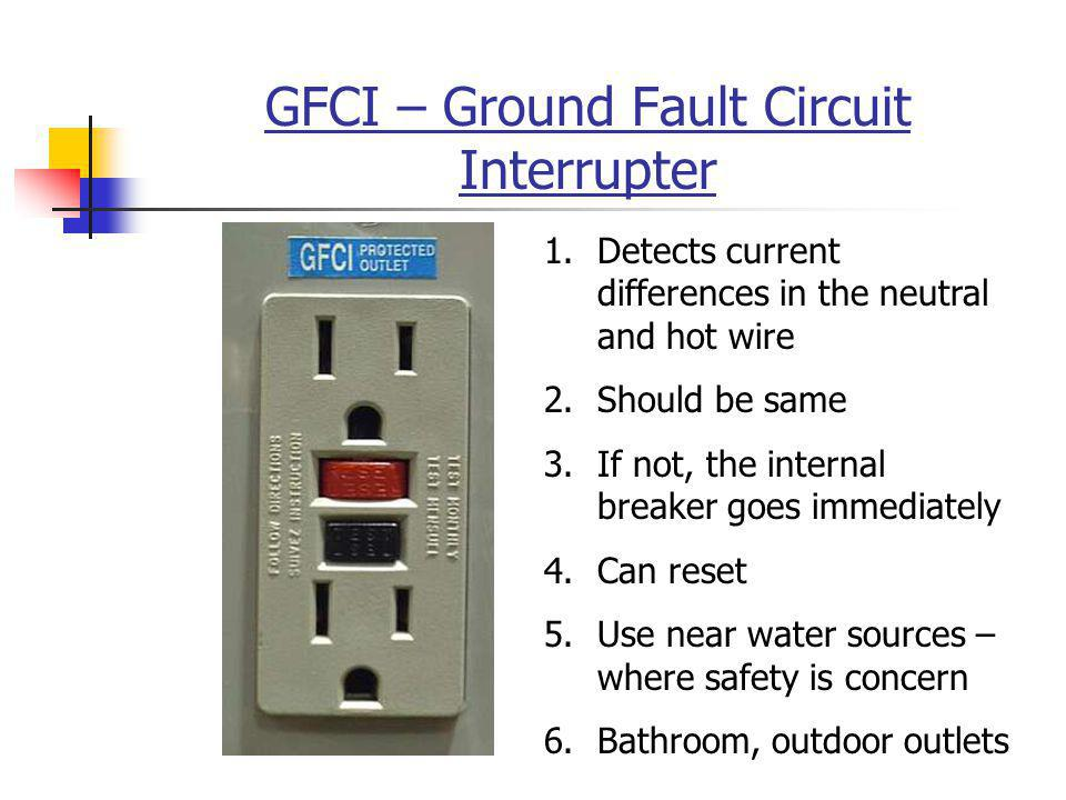 GFCI – Ground Fault Circuit Interrupter