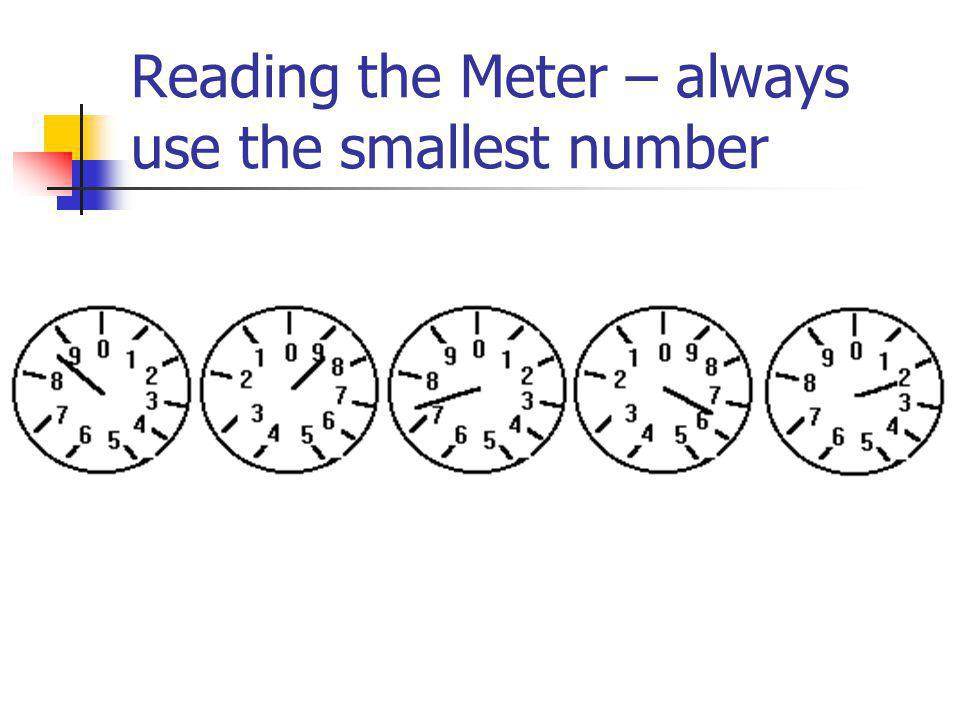 Reading the Meter – always use the smallest number