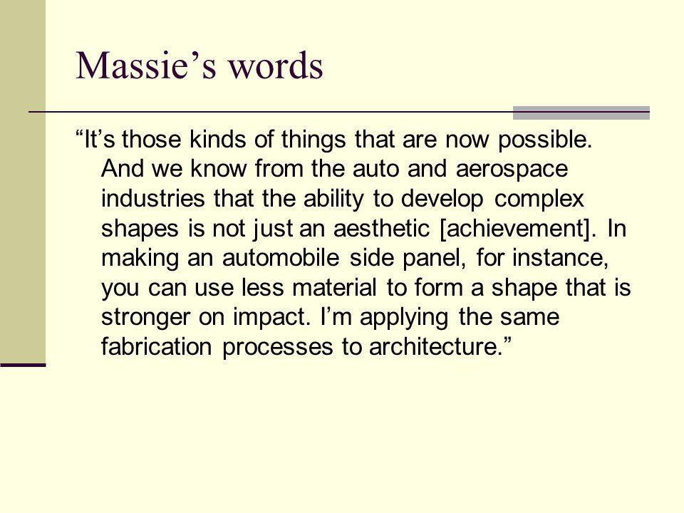 Massie's words