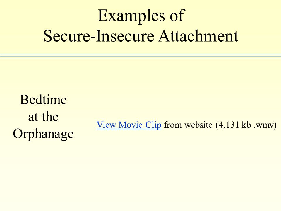 Examples of Secure-Insecure Attachment