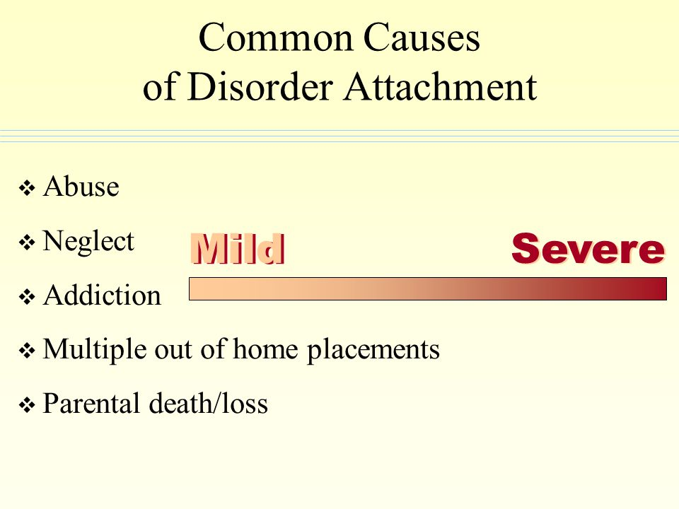 Common Causes of Disorder Attachment