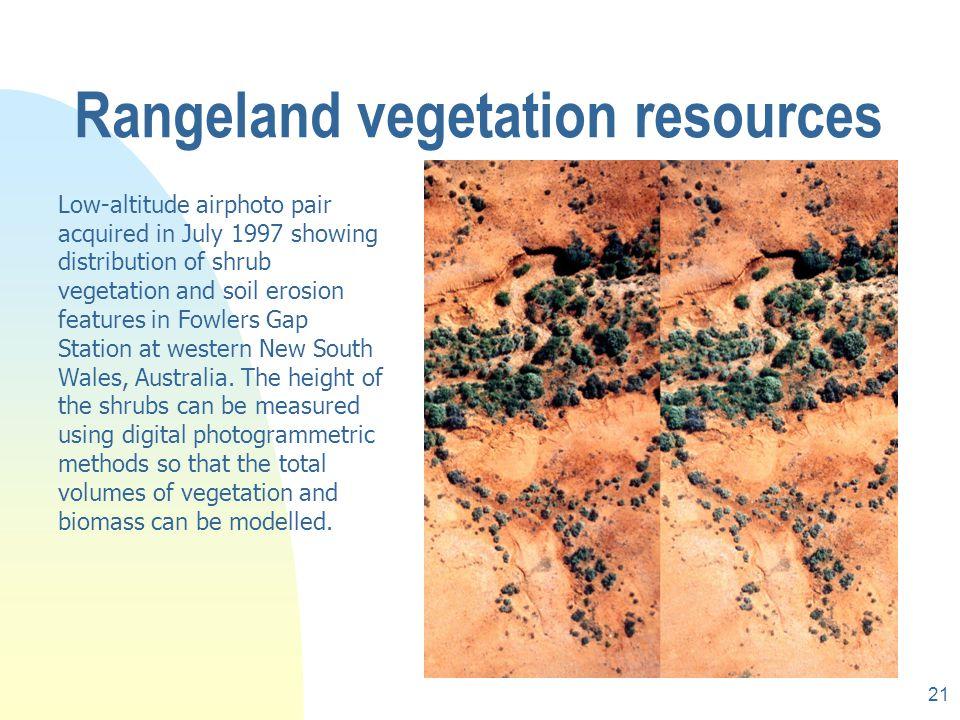 Rangeland vegetation resources