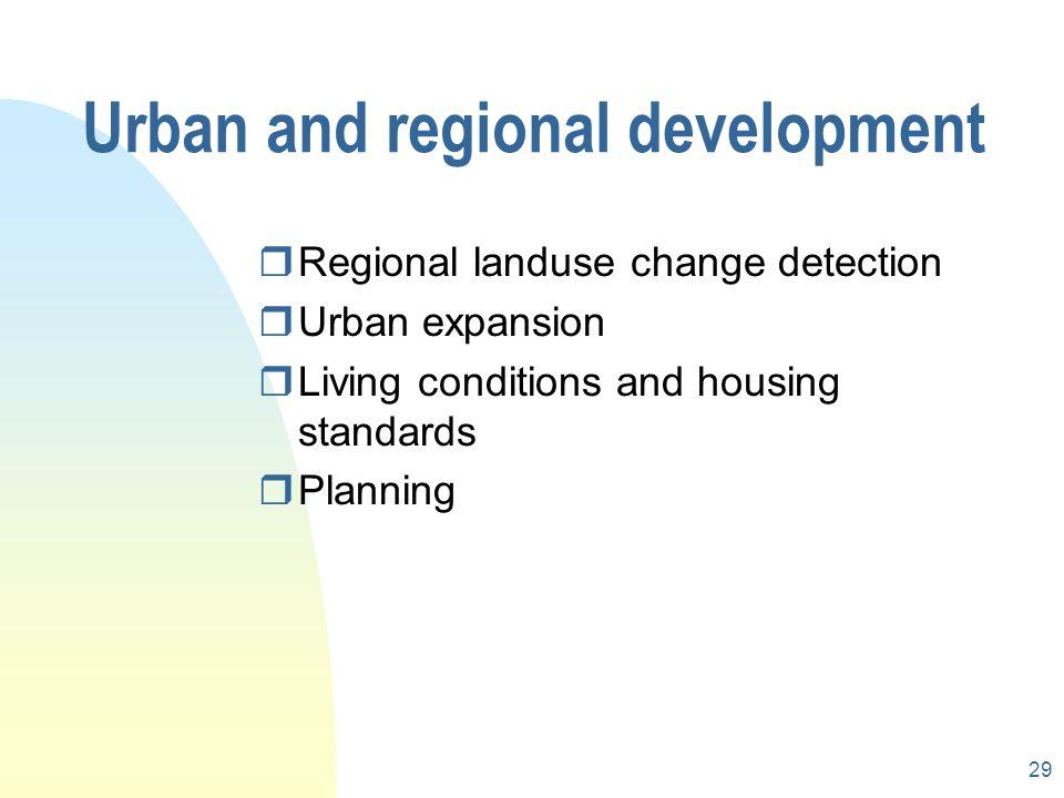 Urban and regional development