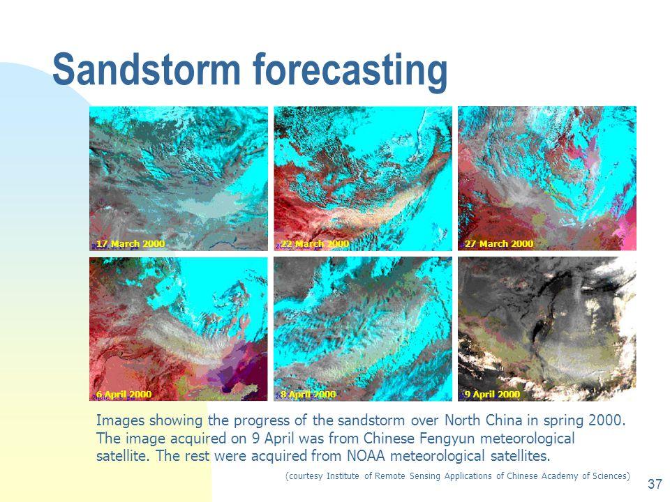 Sandstorm forecasting