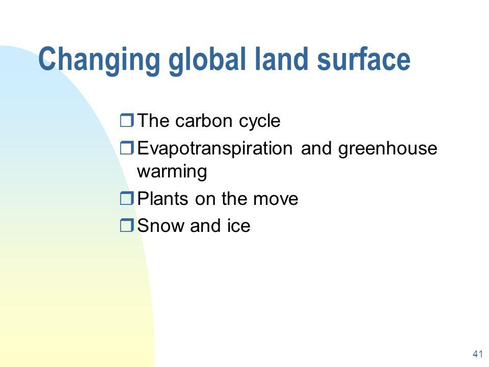 Changing global land surface
