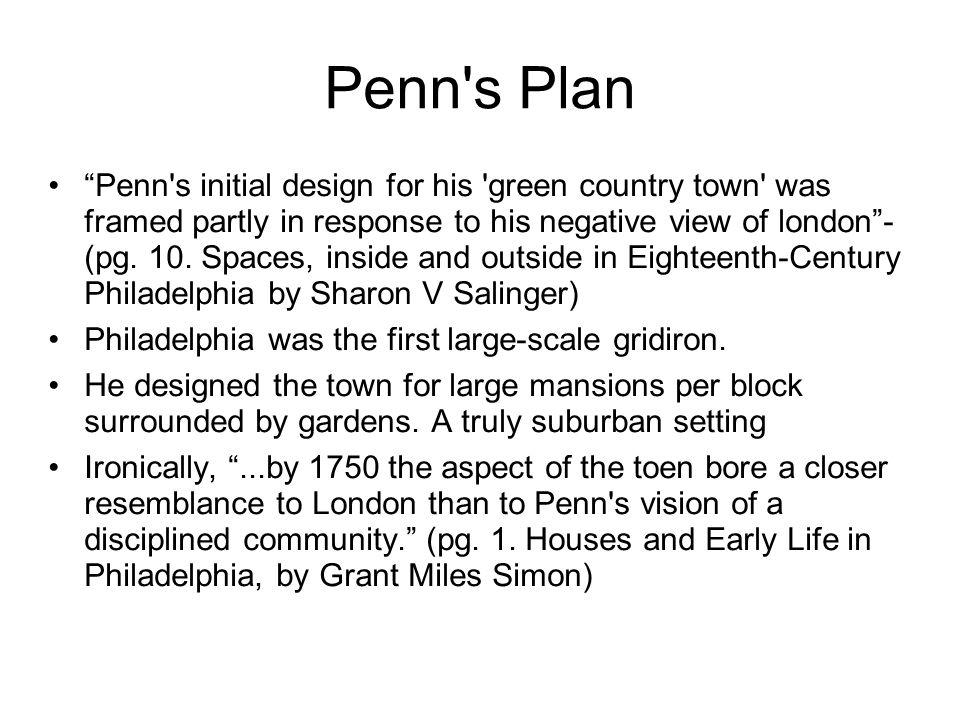 Penn s Plan