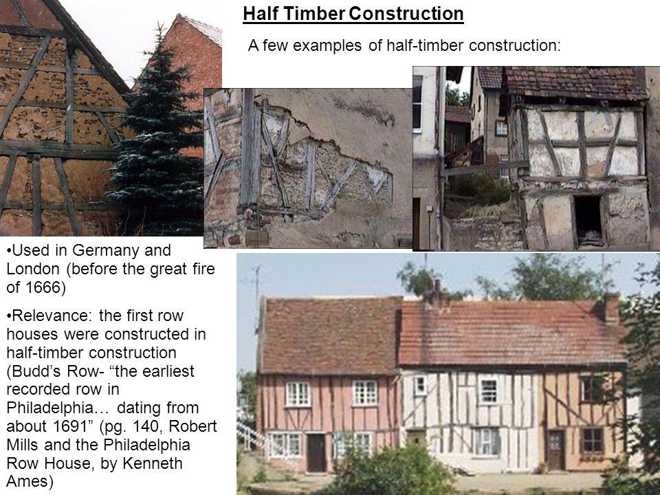 Half Timber Construction