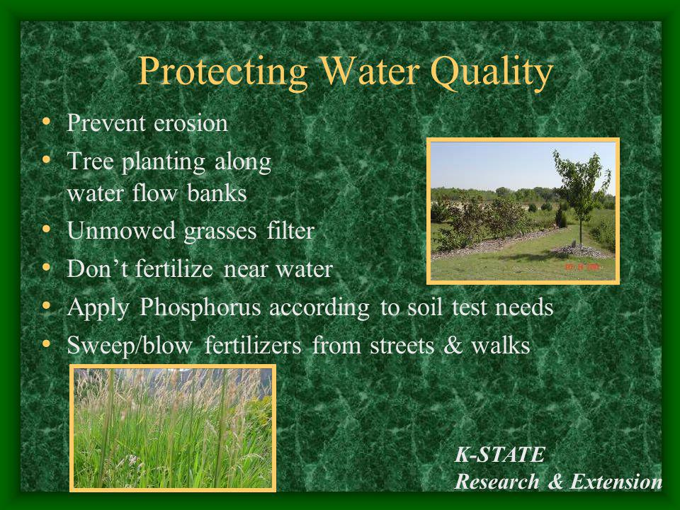 Protecting Water Quality