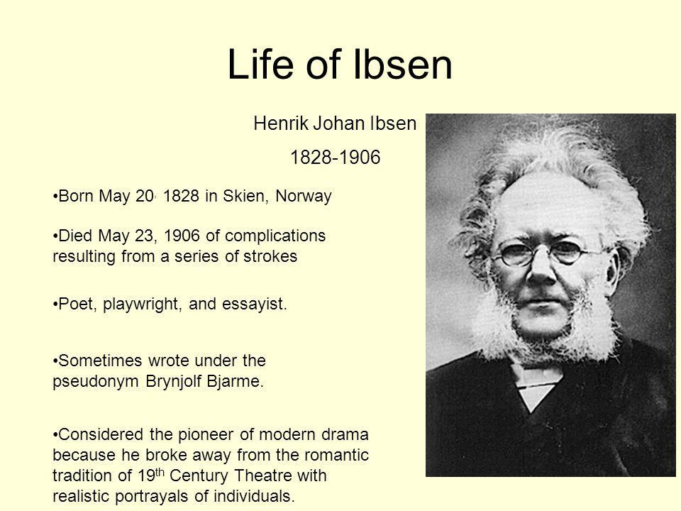 Life of Ibsen Henrik Johan Ibsen 1828-1906