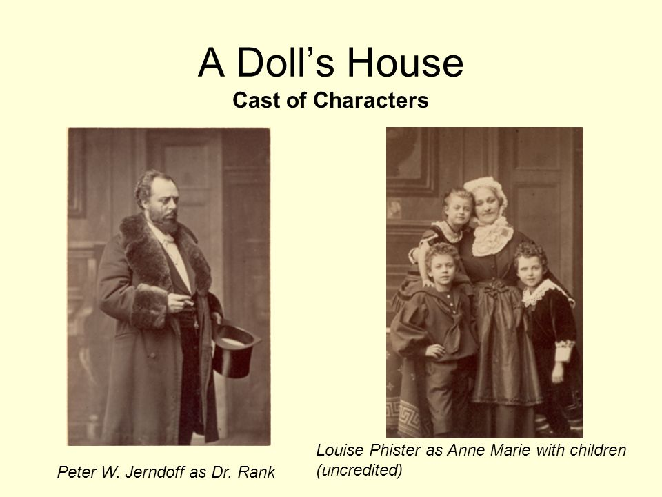 dolls house historical analysis When henrik ibsen's a doll's house was first published in 1879, it was a coming of age play that dealt with the lives and anxieties of the bourgeoisie.