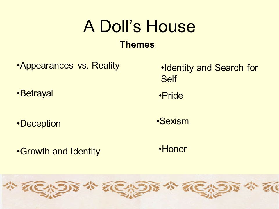 A Doll's House Themes Appearances vs. Reality