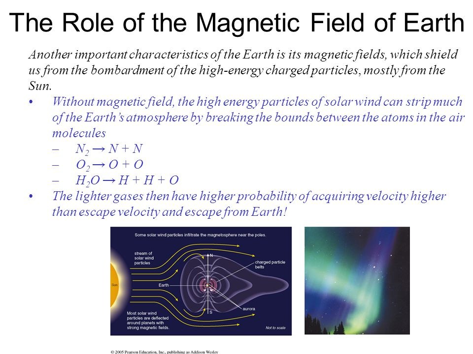 The Role of the Magnetic Field of Earth