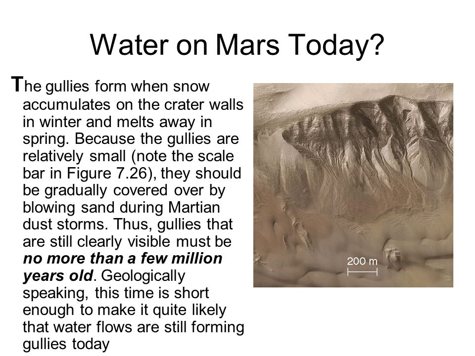Water on Mars Today