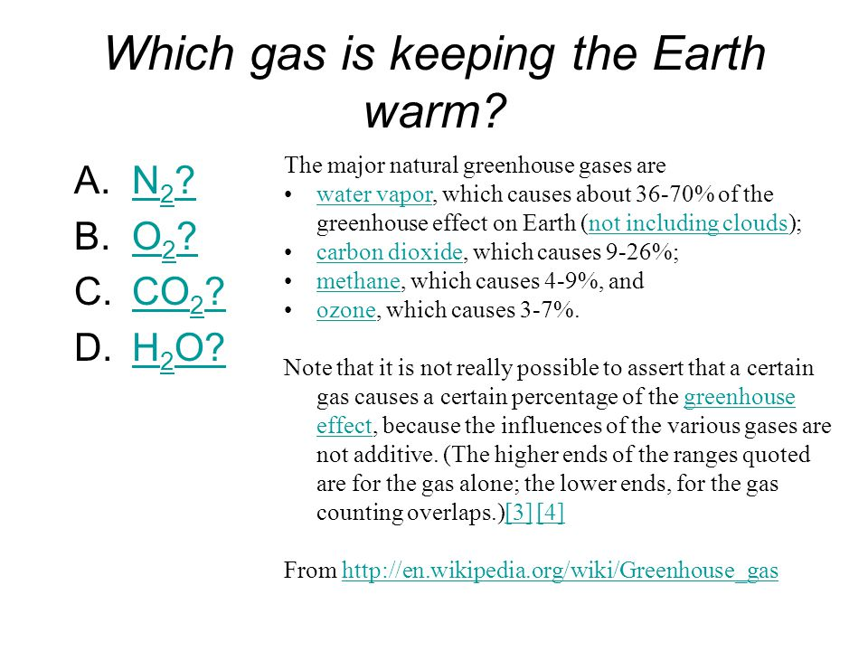 Which gas is keeping the Earth warm