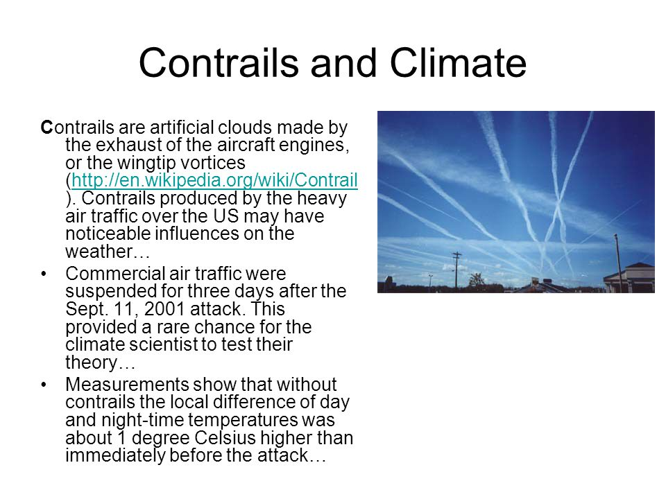 Contrails and Climate