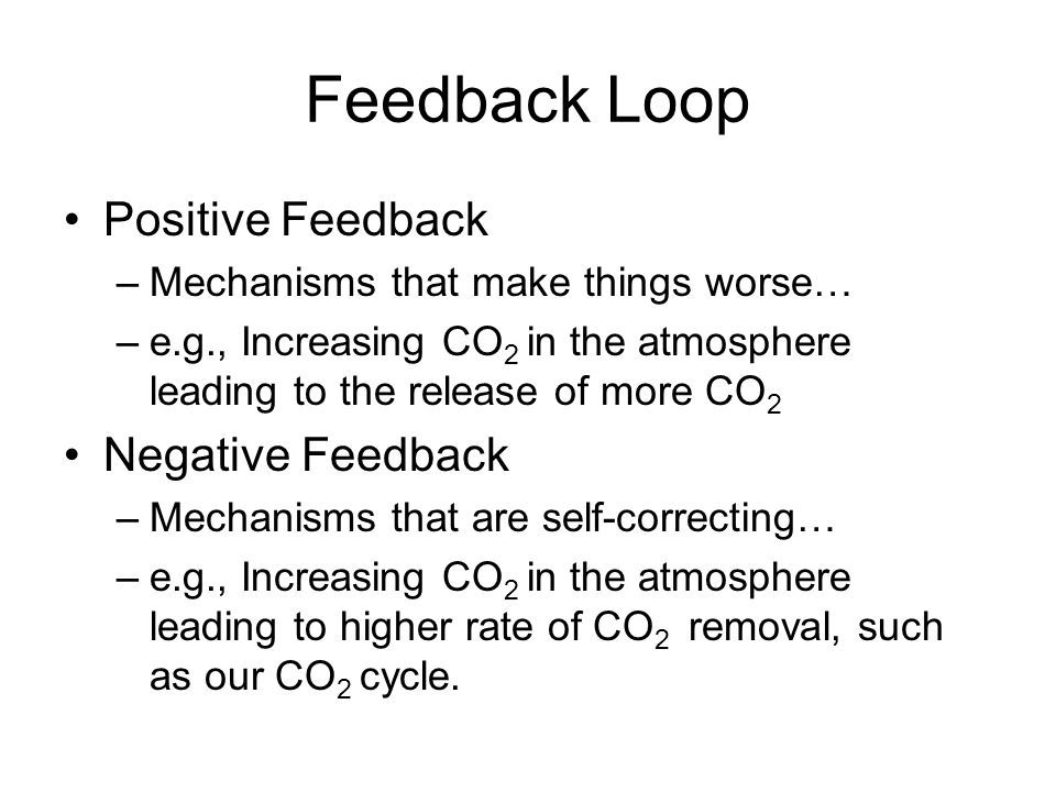 Feedback Loop Positive Feedback Negative Feedback