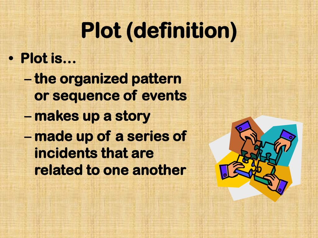 Plot (definition) Plot is… the organized pattern or sequence of events