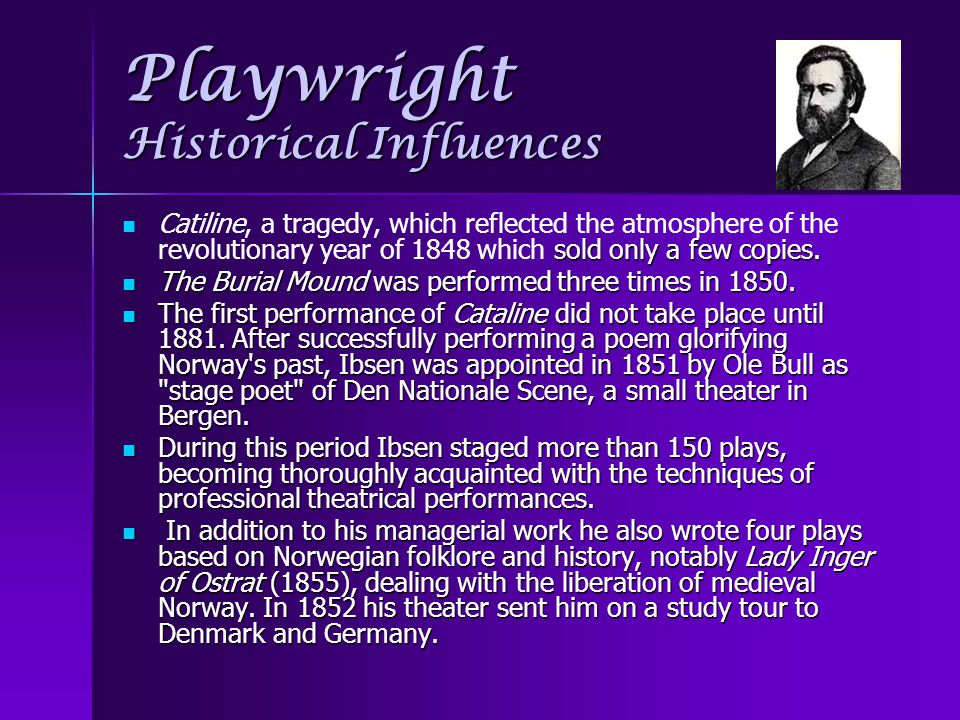 Playwright Historical Influences