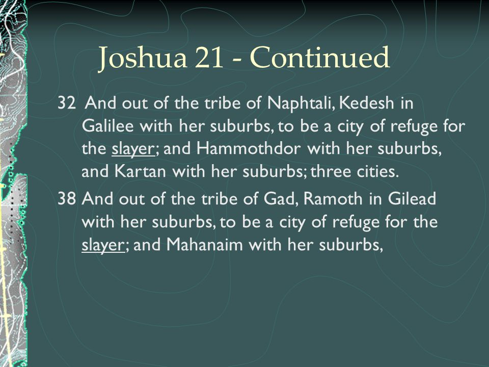 Joshua 21 - Continued