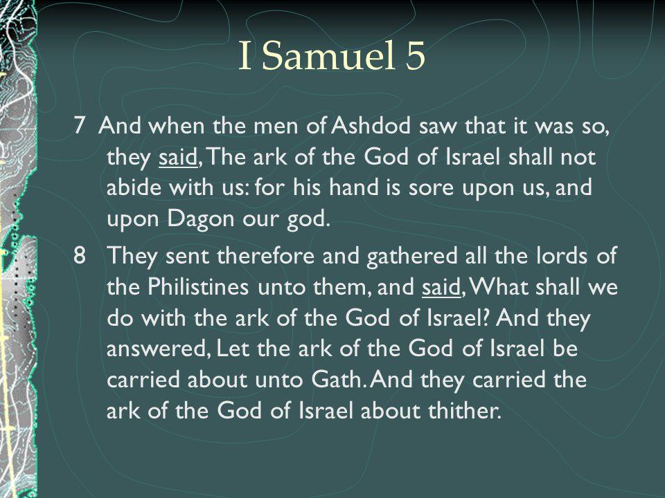 I Samuel 5
