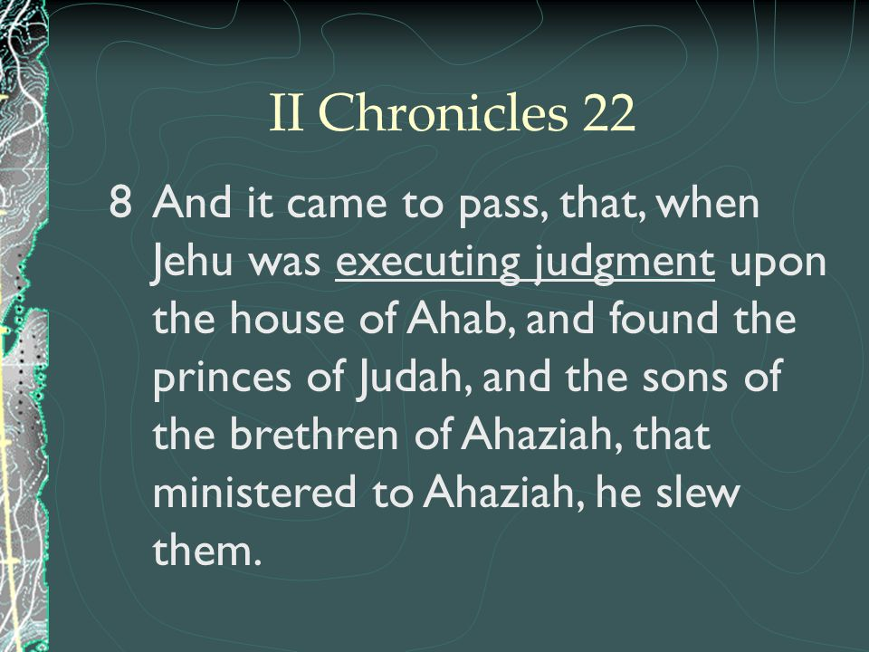 II Chronicles 22