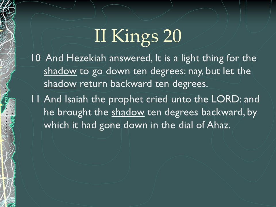 II Kings 20