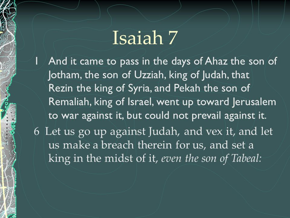 Isaiah 7