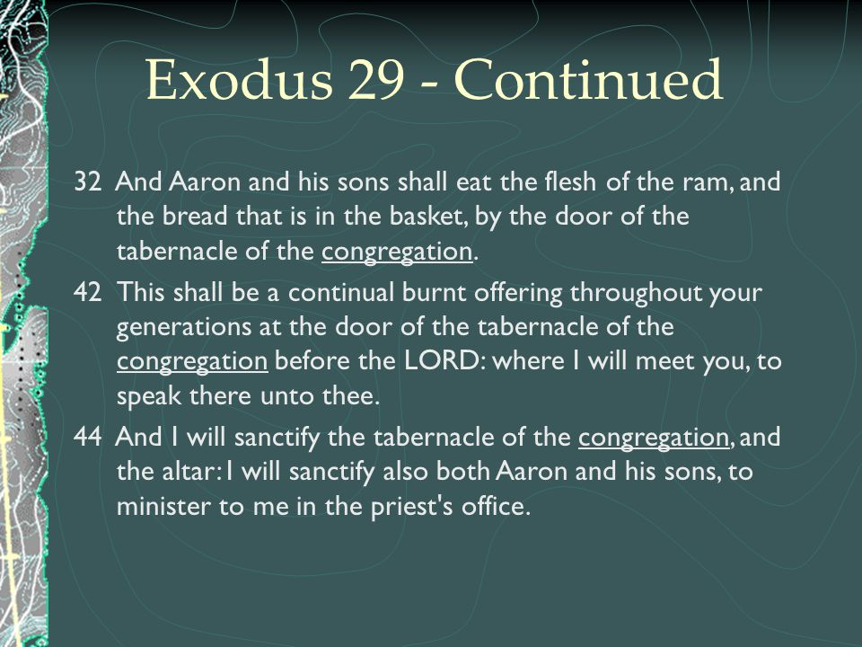 Exodus 29 - Continued