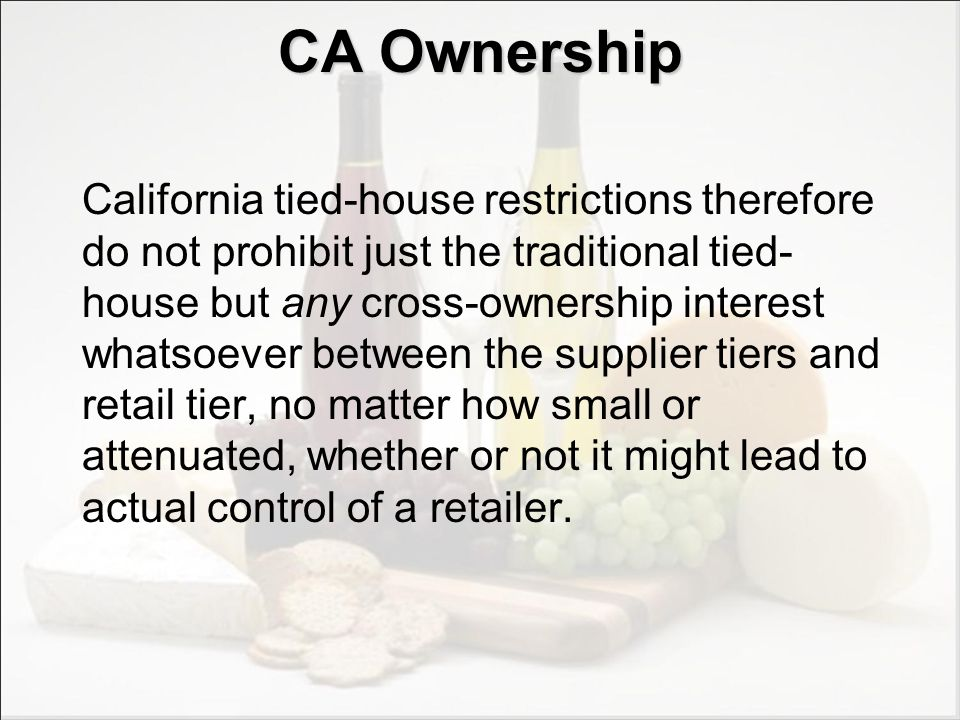 CA Ownership Exceptions