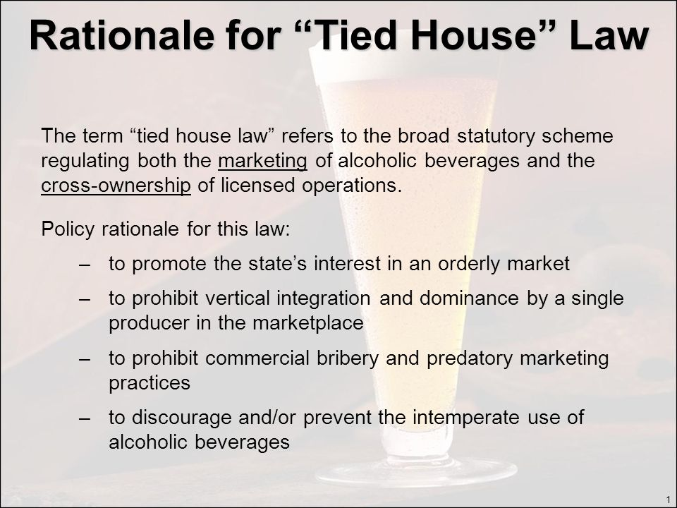 Are Tied House Laws Working