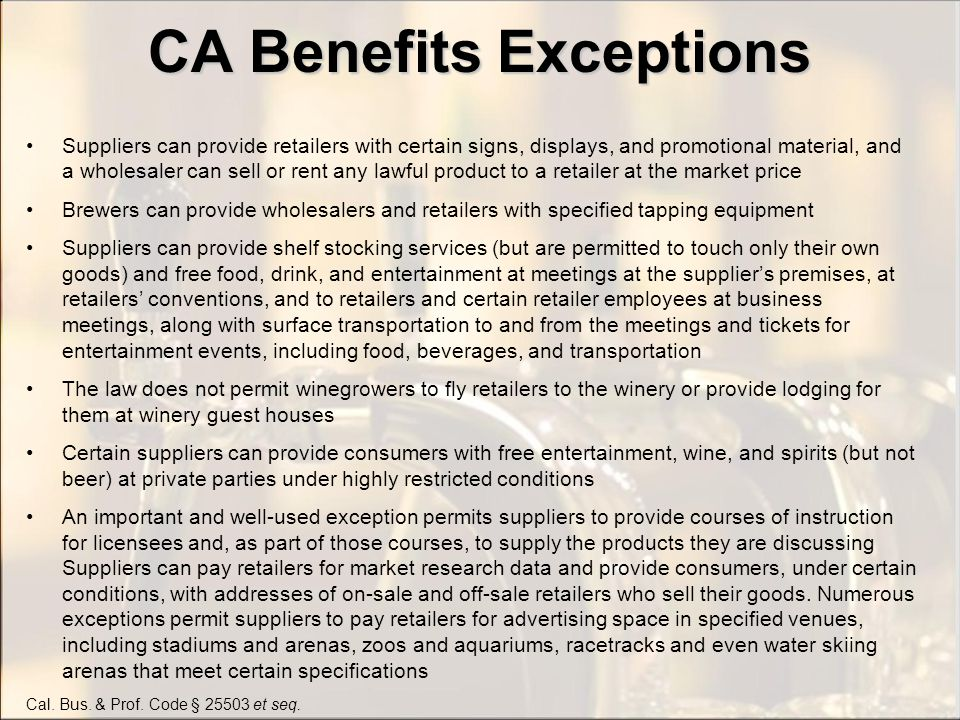 CA Free Goods