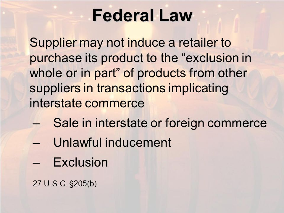 Federal Means of Inducement
