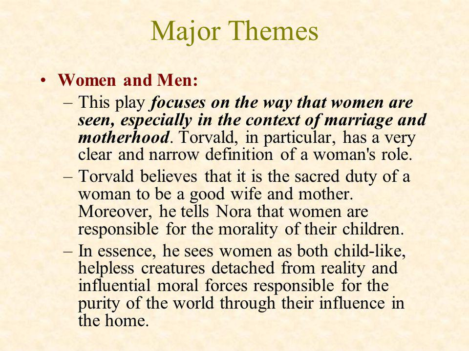 Major Themes Women and Men:
